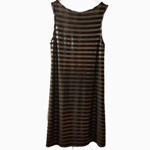 Ing l metalic silver black Striped SL dress Small